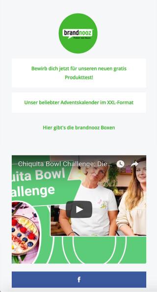 ContactInBio page of Brand Nooz
