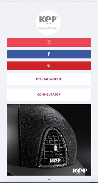ContactInBio page of KEP Italia
